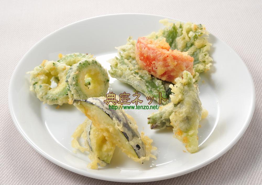 夏野菜の天ぷら五種盛り