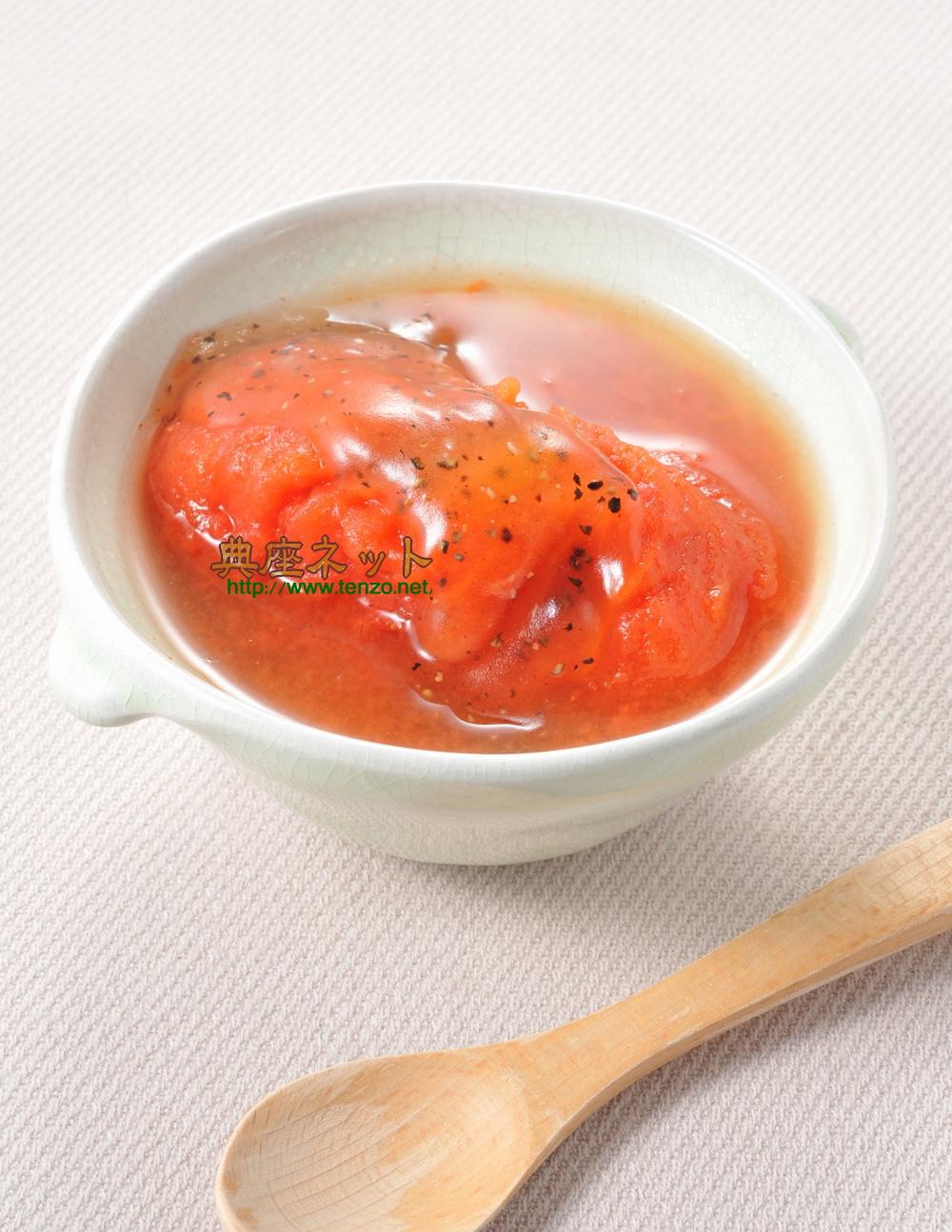 レンジトマトの銀あんかけ