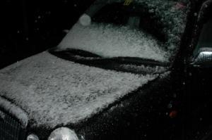 初降雪です